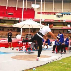 我校运动员朱英旭在2017年世界少年田径竞标赛中获得优异成绩